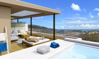 New modern apartments for sale in Benahavis - Marbella with golf and sea views. Last units, key ready. 6% Discount! 7361