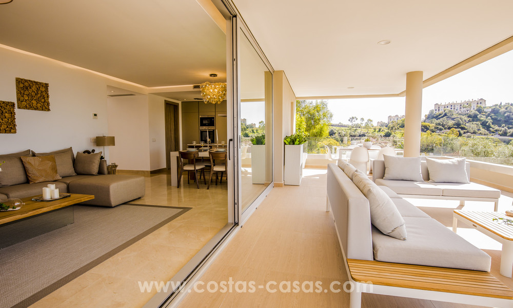 New modern apartments for sale in Benahavis - Marbella with golf and sea views. Last units, key ready. 6% Discount! 7366