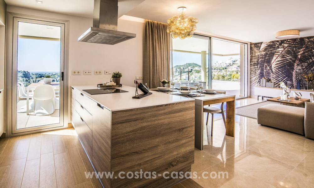 New modern apartments for sale in Benahavis - Marbella with golf and sea views. Last units, key ready. 6% Discount! 7369