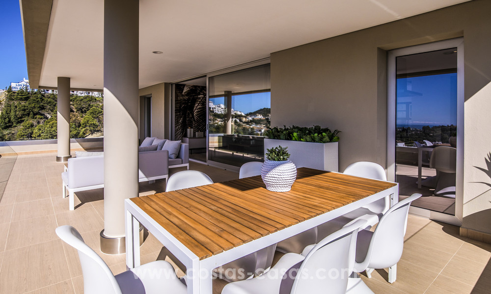New modern apartments for sale in Benahavis - Marbella with golf and sea views. Last units, key ready. 6% Discount! 7376