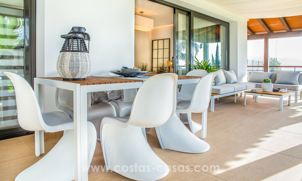 New modern apartments for sale in Benahavis - Marbella with golf and sea views. Last units, key ready. 6% Discount! 7341