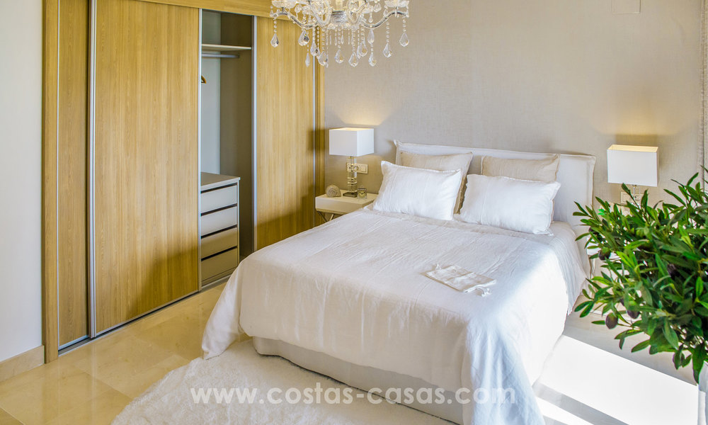New modern apartments for sale in Benahavis - Marbella with golf and sea views. Last units, key ready. 6% Discount! 7344