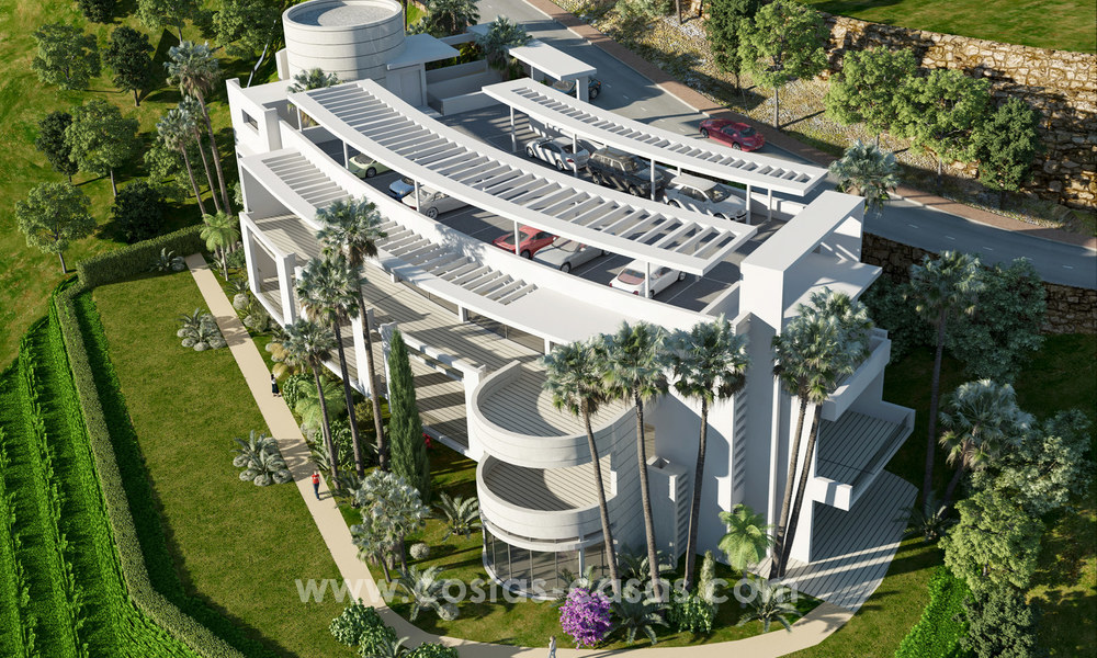 Modern luxury apartments for sale with sea view at a few minutes' drive from Marbella center 4645