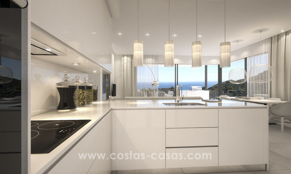 Modern luxury apartments for sale with sea view at a few minutes' drive from Marbella center 4651