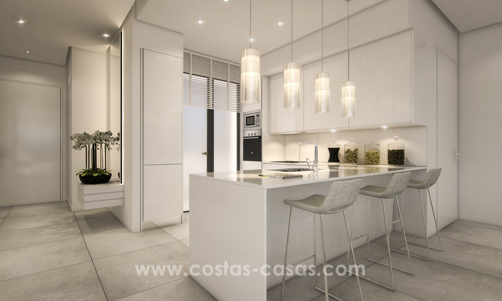 Modern luxury apartments for sale with sea view at a few minutes' drive from Marbella center 4653