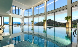 Modern luxury apartments for sale with sea view at a few minutes' drive from Marbella center 4837