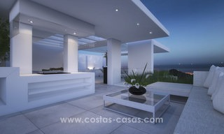 Modern luxury apartments for sale with sea view at a few minutes' drive from Marbella center 4660