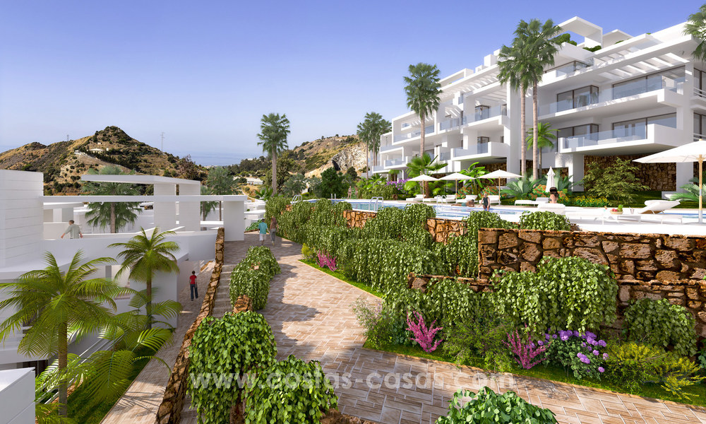 Modern luxury apartments for sale with sea view at a few minutes' drive from Marbella center 4668