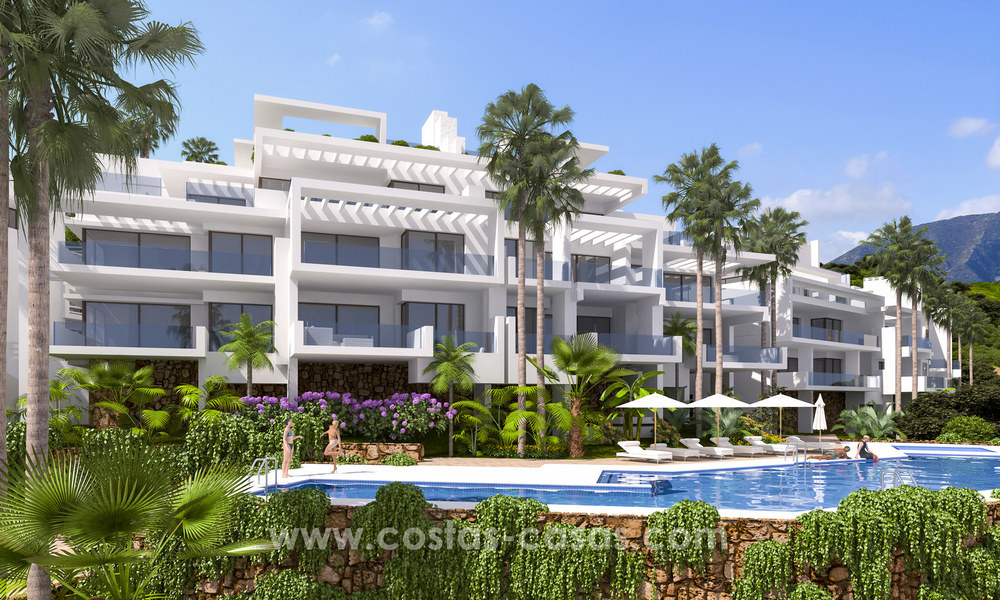 Modern luxury apartments for sale with sea view at a few minutes' drive from Marbella center 4667