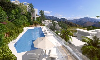 Modern luxury apartments for sale with sea view at a few minutes' drive from Marbella center 4669