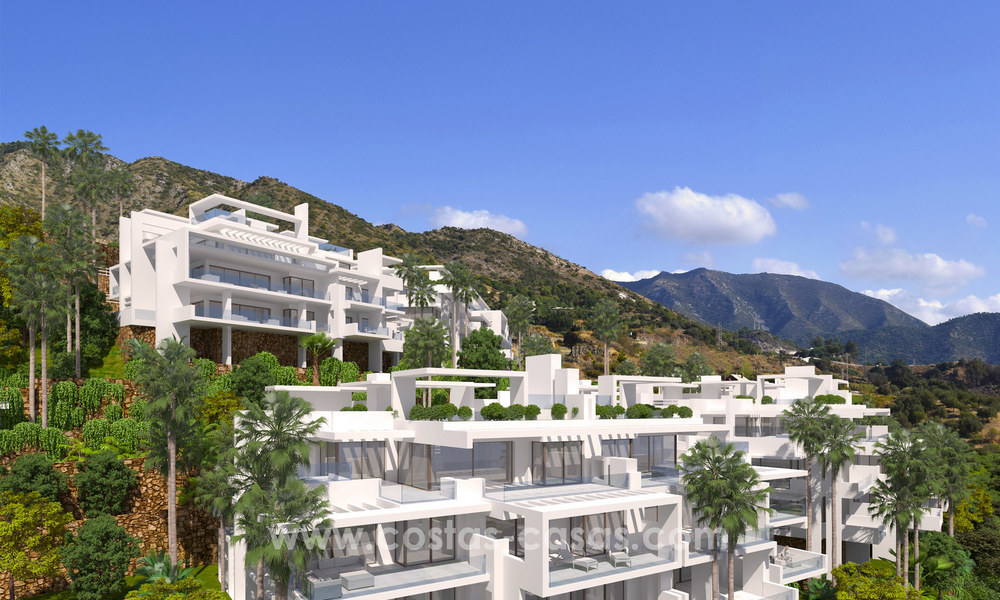 Modern luxury apartments for sale with sea view at a few minutes' drive from Marbella center 4671