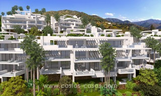 Modern luxury apartments for sale with sea view at a few minutes' drive from Marbella center 4672