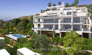 Modern luxury apartments for sale with sea view at a few minutes' drive from Marbella center 4673