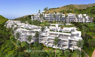 Modern luxury apartments for sale with sea view at a few minutes' drive from Marbella center 4675
