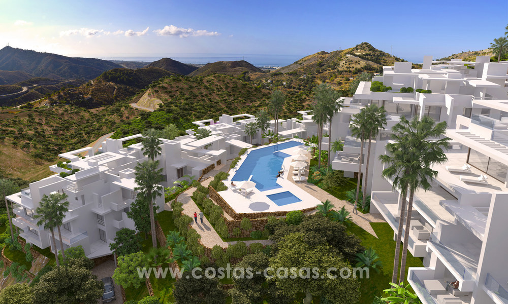 Modern luxury apartments for sale with sea view at a few minutes' drive from Marbella center 4676