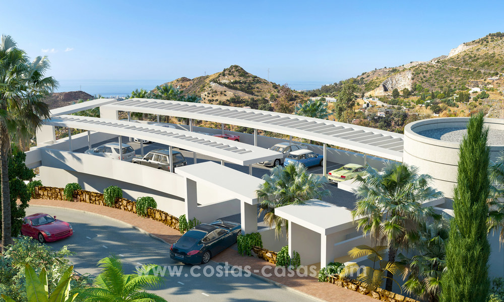 Modern luxury apartments for sale with sea view at a few minutes' drive from Marbella center 4644