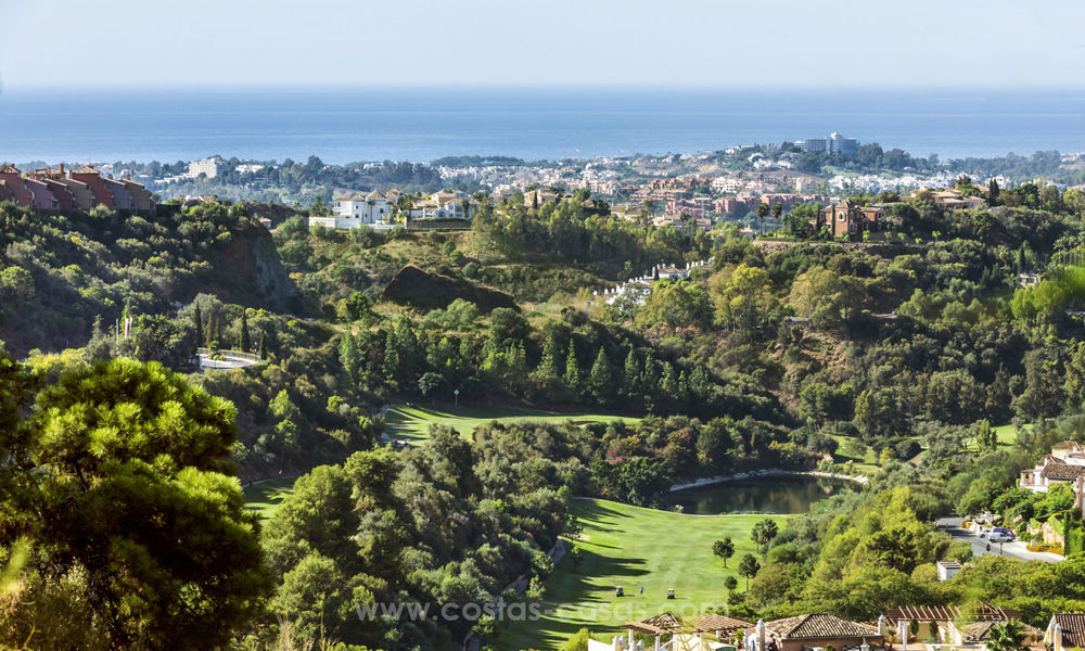 Spacious luxury apartments for sale in Benahavis - Marbella with beautiful sea views. Discount up to 44% Off 5037