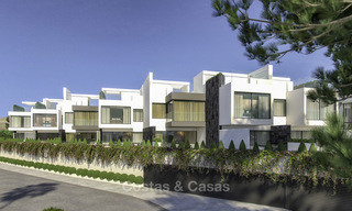Modern new exclusive, move-in ready townhouses with sea view for sale, beachfront location, just minutes from Estepona centre 15130