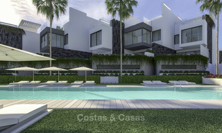Modern new exclusive, move-in ready townhouses with sea view for sale, beachfront location, just minutes from Estepona centre 15129