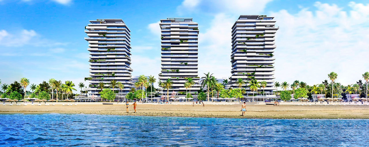 Innovative contemporary luxury apartments for sale in an impressive new beachfront complex in Malaga city