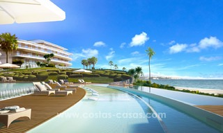Spectacular modern luxury frontline beach apartments for sale in Estepona, Costa del Sol 3821