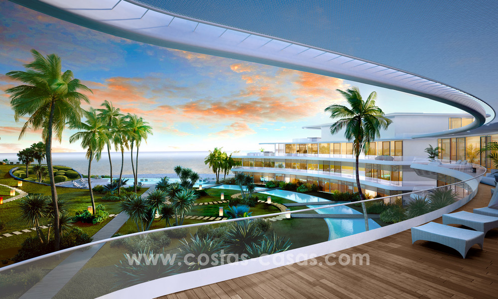 Spectacular modern luxury frontline beach apartments for sale in Estepona, Costa del Sol 3823