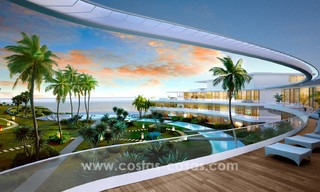 Spectacular modern luxury frontline beach apartments for sale in Estepona, Costa del Sol. 3823