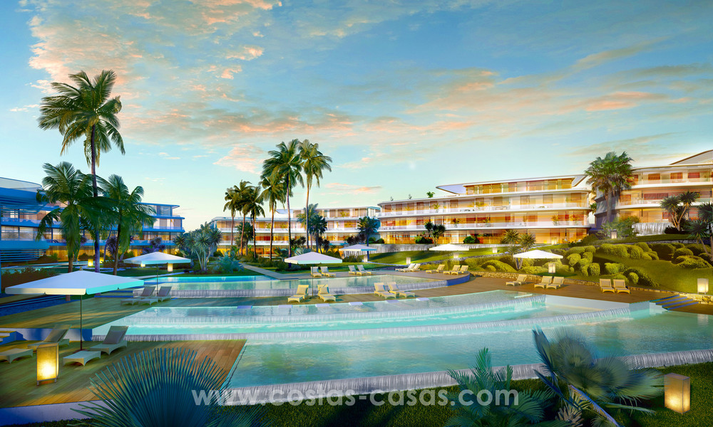 Spectacular modern luxury frontline beach apartments for sale in Estepona, Costa del Sol 3824