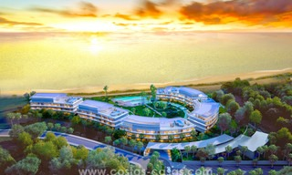 Spectacular modern luxury frontline beach apartments for sale in Estepona, Costa del Sol. 3825
