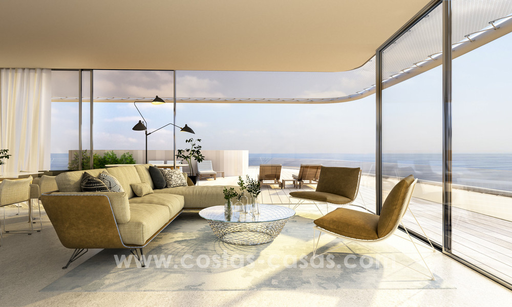 Spectacular modern luxury frontline beach apartments for sale in Estepona, Costa del Sol 3827