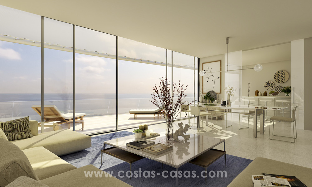 Spectacular modern luxury frontline beach apartments for sale in Estepona, Costa del Sol 3828