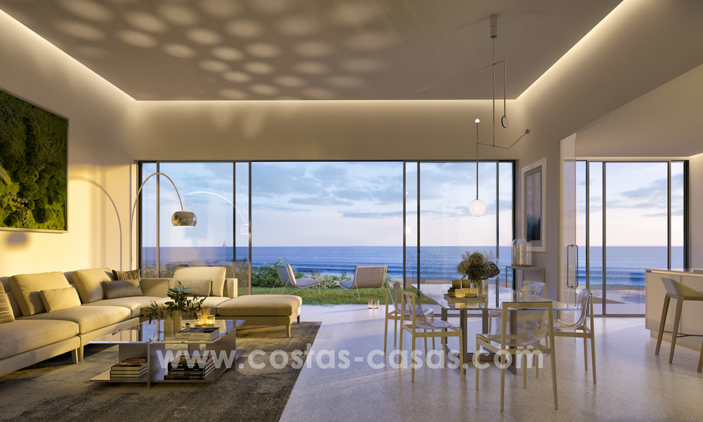Spectacular modern luxury frontline beach apartments for sale in Estepona, Costa del Sol 3829