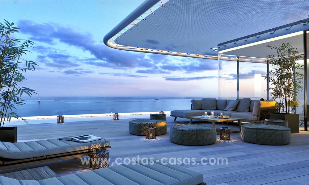 Spectacular modern luxury frontline beach apartments for sale in Estepona, Costa del Sol 3830