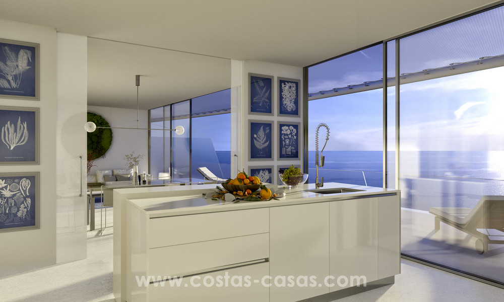Spectacular modern luxury frontline beach apartments for sale in Estepona, Costa del Sol 3831