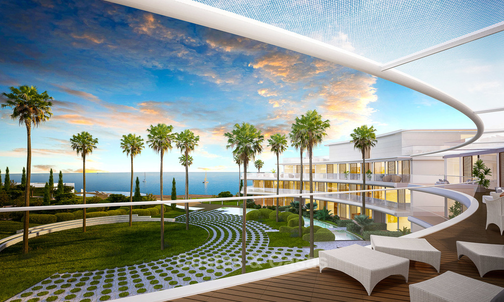 Spectacular modern luxury frontline beach apartments for sale in Estepona, Costa del Sol 3839