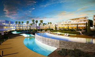 Spectacular modern luxury frontline beach apartments for sale in Estepona, Costa del Sol 3840