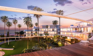 Spectacular modern luxury frontline beach apartments for sale in Estepona, Costa del Sol 3841