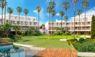 Spectacular modern luxury frontline beach apartments for sale in Estepona, Costa del Sol 3845