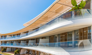 Spectacular modern luxury frontline beach apartments for sale in Estepona, Costa del Sol. Ready to move in. 27763