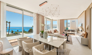 Spectacular modern luxury frontline beach apartments for sale in Estepona, Costa del Sol. Ready to move in. 27766