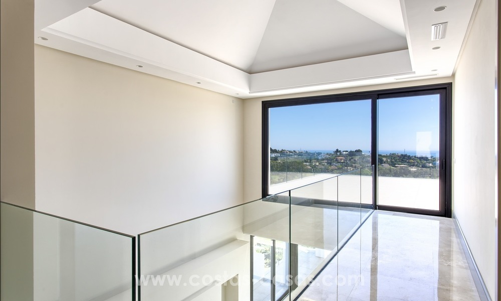 Modern new villa for sale with sea view in Benahavis - Marbella 241