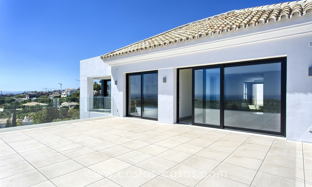 Modern new villa for sale with sea view in Benahavis - Marbella 245