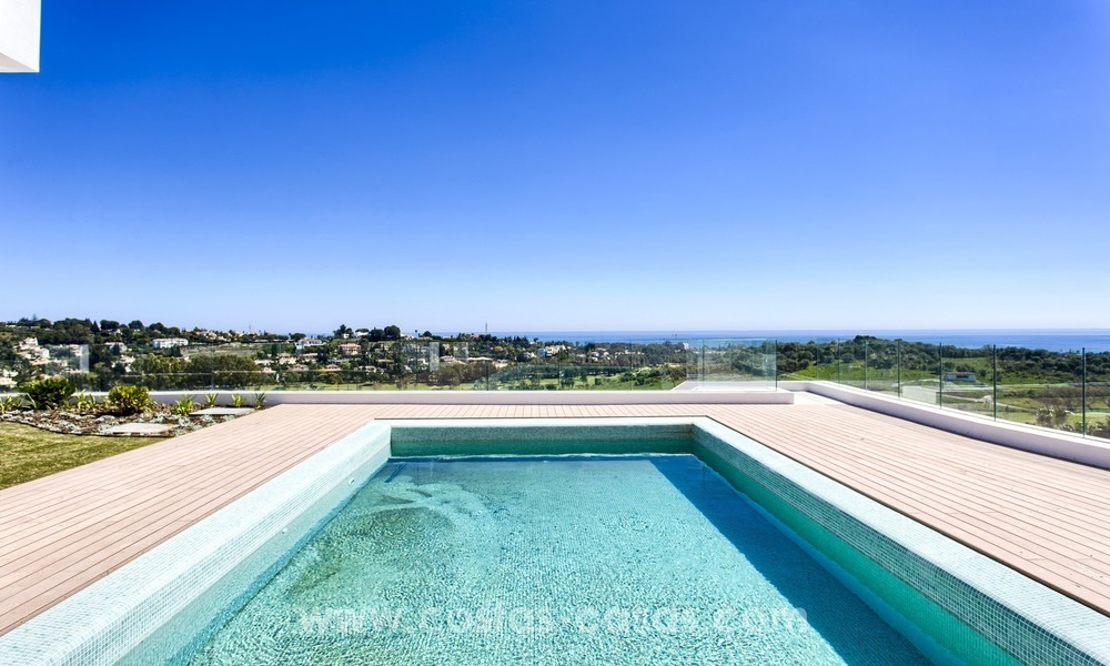 Modern new villa for sale with sea view in Benahavis - Marbella 253