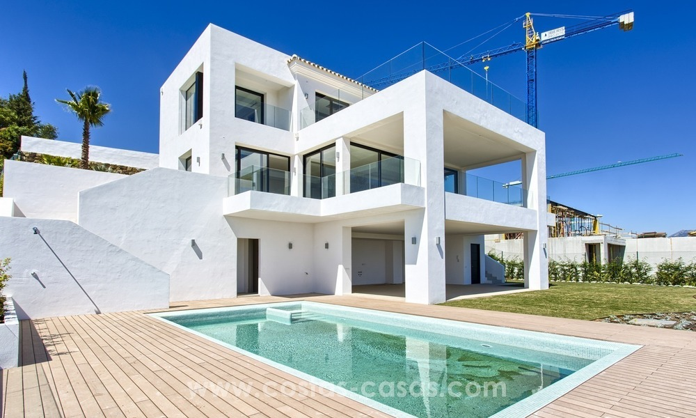 Modern new villa for sale with sea view in Benahavis - Marbella 254