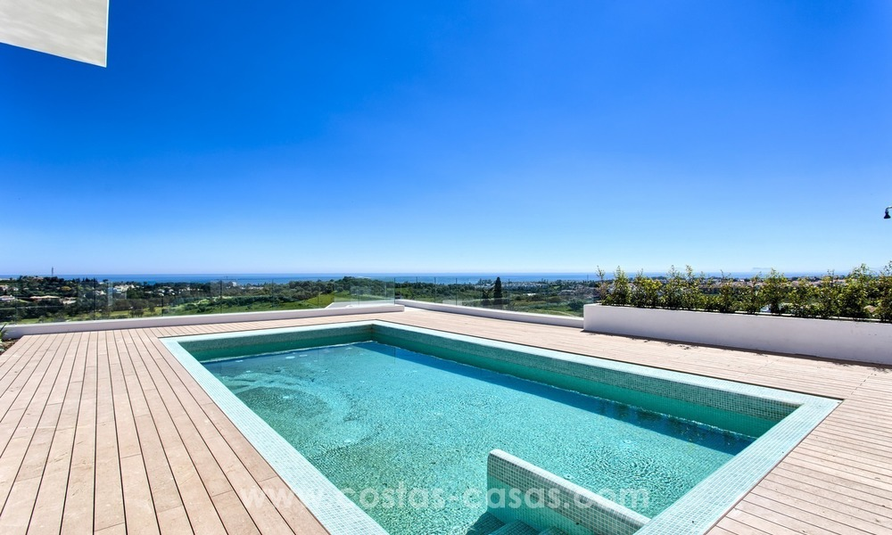 Modern new villa for sale with sea view in Benahavis - Marbella 255