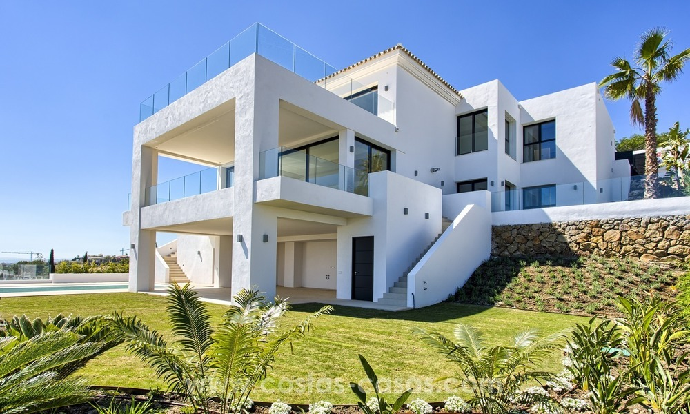 Modern new villa for sale with sea view in Benahavis - Marbella 257