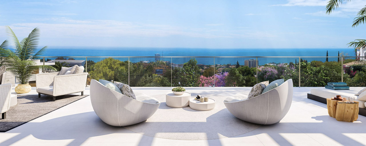 New passive modern apartments in a 5-star boutique resort for sale in Marbella with stunning sea views