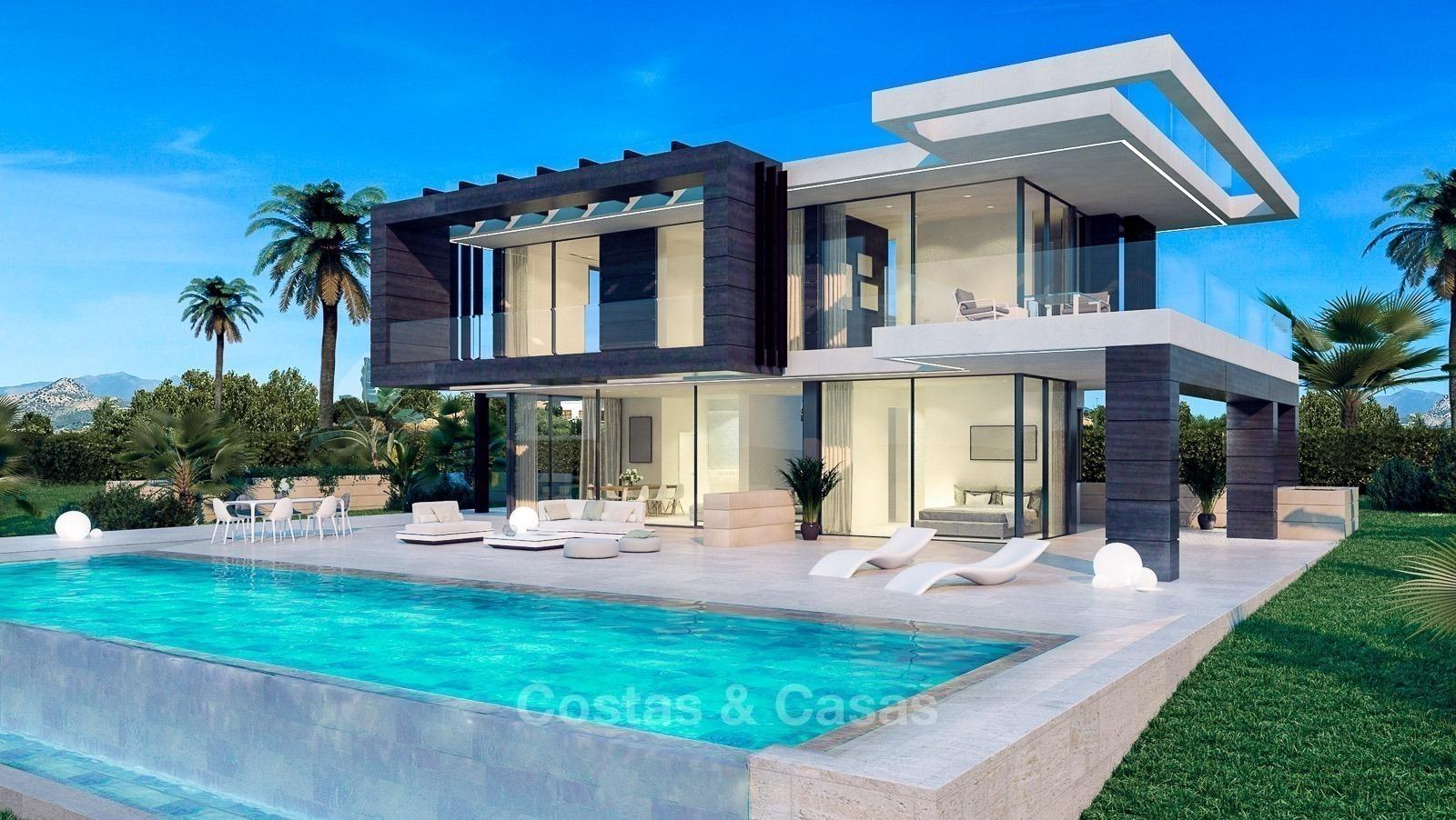 new modern villa for sale frontline golf sea view estepona. Black Bedroom Furniture Sets. Home Design Ideas