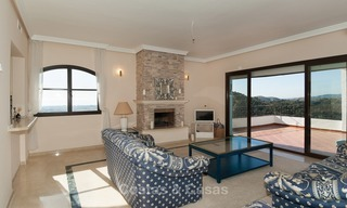 South facing detached House for sale with panoramic sea and golf views on Golf resort in Marbella - Benahavis 969