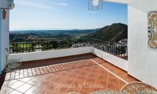 South facing detached House for sale with panoramic sea and golf views on Golf resort in Marbella - Benahavis 973